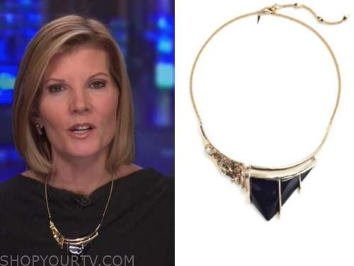 kate snow, black bib necklace, the today show