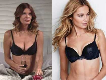 phyllis newman, michelle stafford, the young and the restless, navy blue and black bra