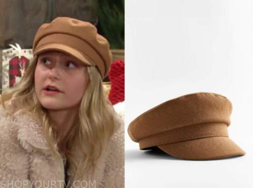 faith newman, alyvia alyn lind, the young and the restless, camel hat,