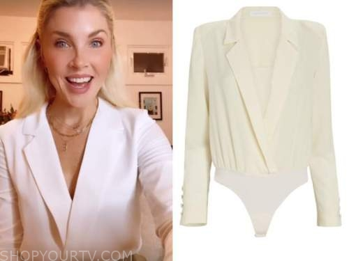 amanda kloots, cbs this morning, white blouse