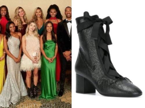 kit keenan, black lace-up boots, the bachelor, night one