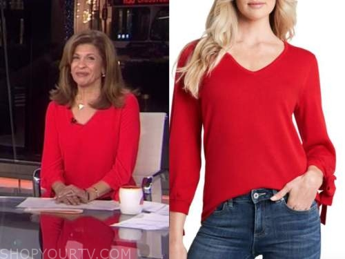 hoda kotb, red sweater, the today show