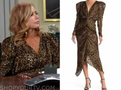 lauren fenmore baldwin, tracey bregman, the young and the restless, leopard dress