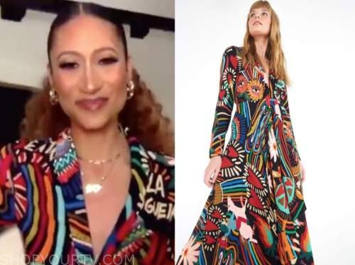 elaine welteroth, cbs this morning, multicolor maxi dress