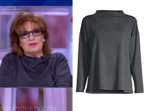 joy behar, the view, striped sweater top