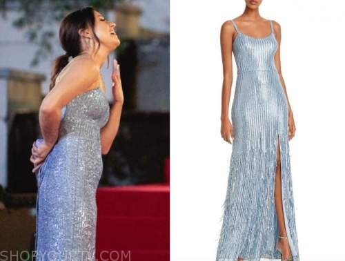 katie thurston, blue sequin gown, the bachelor, night one