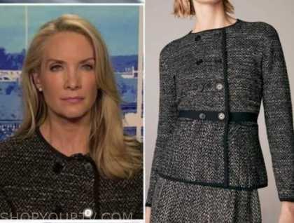 the daily briefing, dana perino, black tweed jacket