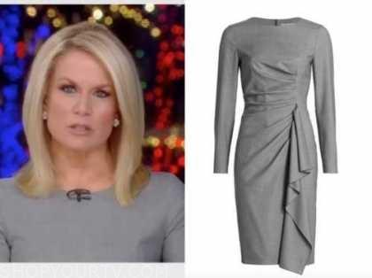 martha maccallum, the story, gray dress
