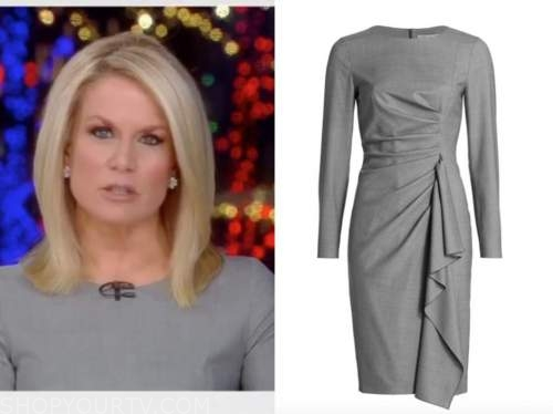 martha maccallum, the story, gray dress