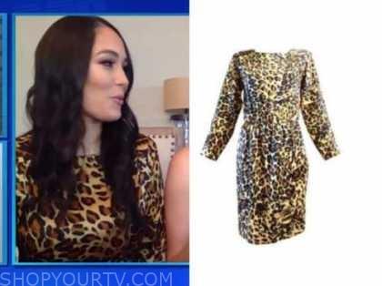 brie bella, e! news, daily pop, leopard dress