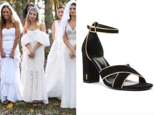 kit keenan, black suede sandals, the bachelor
