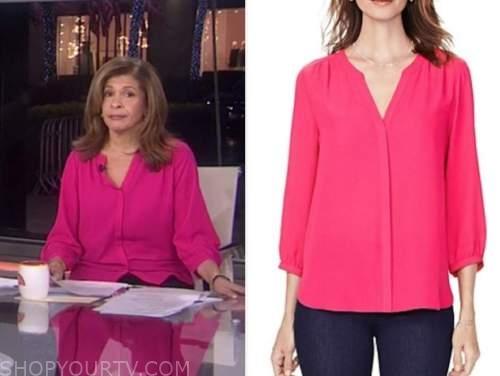 hoda kotb, the today show, hot pink blouse