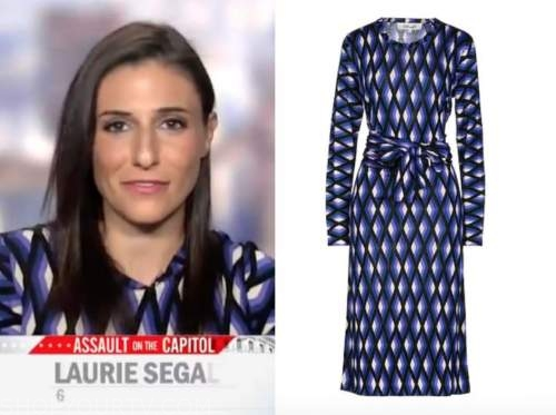 laurie segall, cbs this morning, purple geometric dress