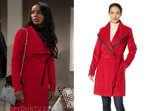 imani benedict, Leigh-Ann Rose, red coat, the young and the restless