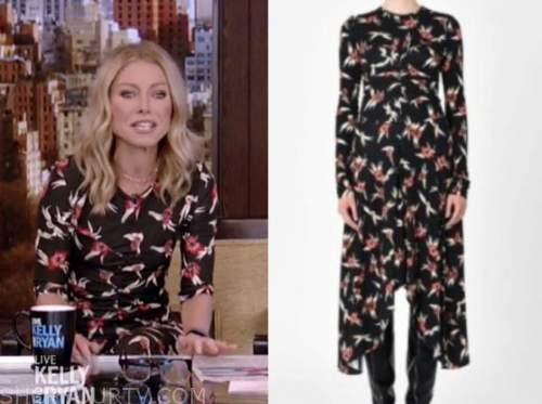 live with kelly and ryan, kelly ripa, floral midi dress