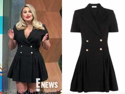 carissa culiner, E! news, daily pop, black double breasted dress