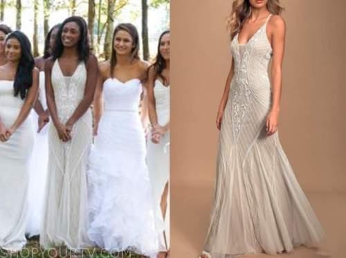 sydney johnson, the bachelor, embellished wedding dress