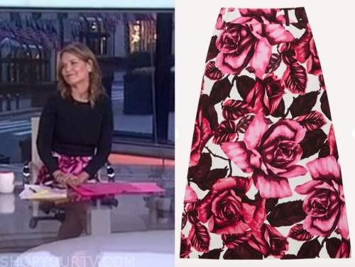 savannah guthrie, the today show, pink floral skirt