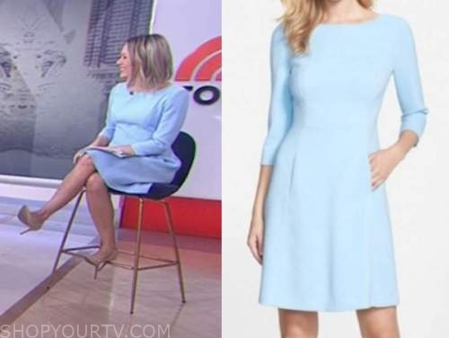 dylan dreyer, the today show, light blue dress