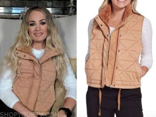 carrie underwood, drew barrymore show, quilted vest