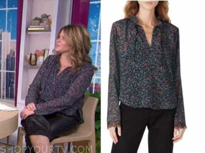 jenna bush hager, the today show, blue floral blouse
