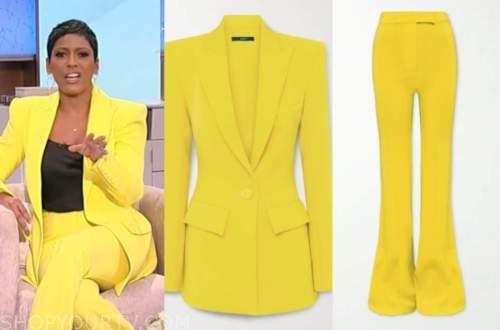 tamron hall, tamron hall show, yellow pant suit