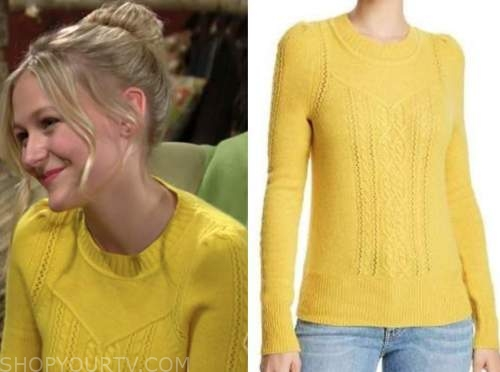 faith newman, alyvia alyn lind, the young and the restless, yellow sweater