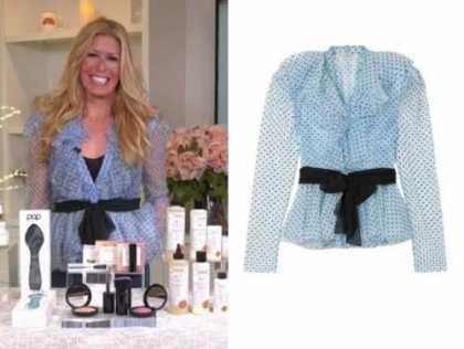 jill martin, blue ruffle polka dot blouse, the today show
