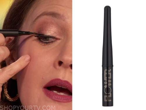 drew barrymore, drew barrymore show, black liquid eyeliner
