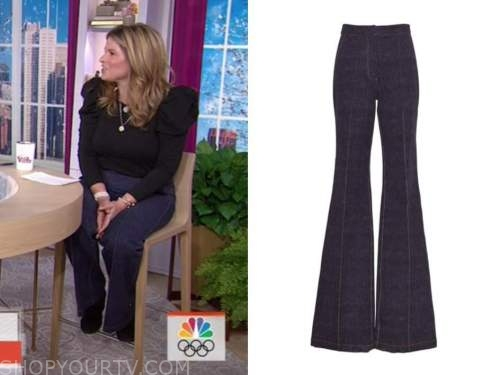 jenna bush hager, the today show, wide leg jeans