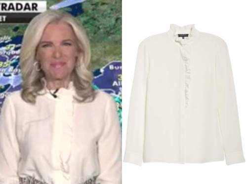janice dean, fox and friends, white ruffle blouse