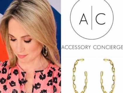 amy robach, good morning america, gold hoop earrings