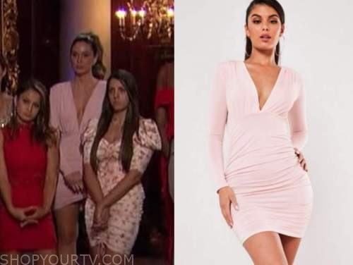 illeana pennetto, blush pink dress, the bachelor