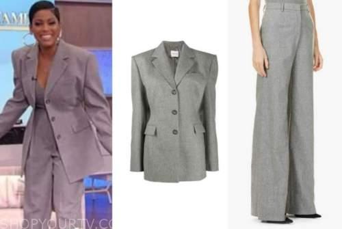 tamron hall, tamron hall show, grey pant suit