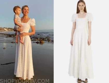 amanda kloots, white maxi dress,