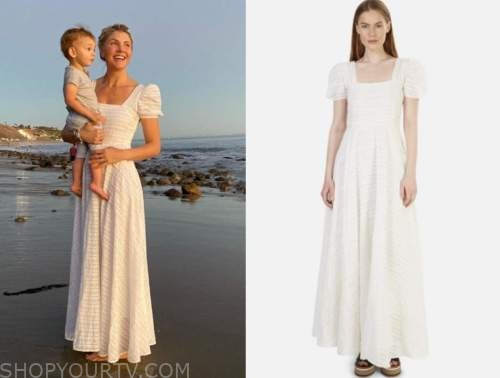 amanda kloots, white maxi dress,