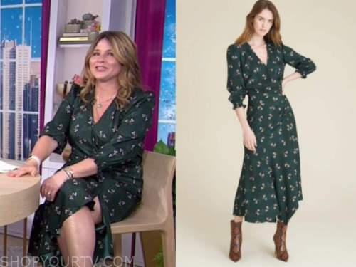 jenna bush hager, the today show, green floral midi dress