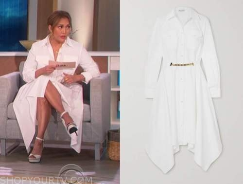 carrie ann inaba, white shirt dress, the talk