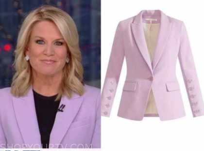 martha maccallum, the story, lilac purple blazer
