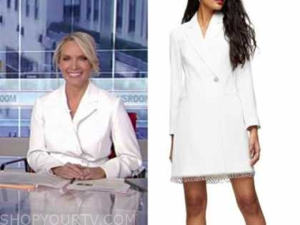dana perino, america's newsroom, white blazer dress