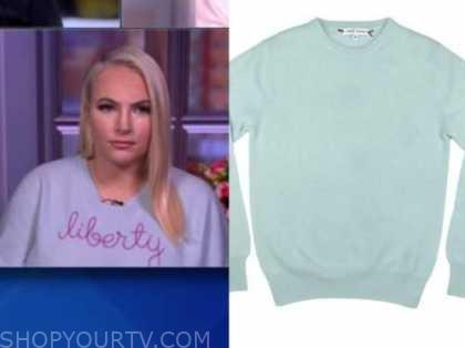 meghan mccain, blue liberty sweater, the view