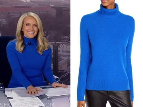 dana perino, america's newsroom, blue cashmere turtleneck sweater