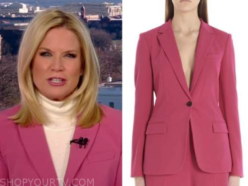 martha maccallum, the story, pink blazer