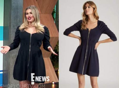 carissa culiner, E! news, daily pop, zip-front dress