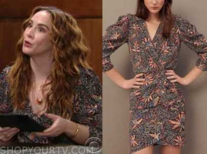 the young and the restless, mariah copeland, camryn grimes, the young and the restless, floral puff sleeve dress