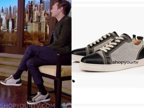 ryan seacrest, live with kelly and ryan, cap toe sneakers