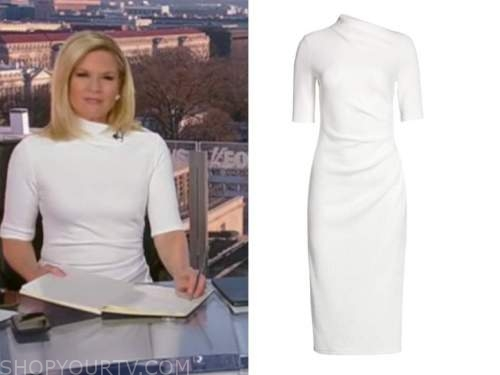 martha maccallum, the story, white sheath dress