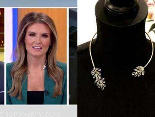 jillian mele, fox and friends, leaf open collar necklace