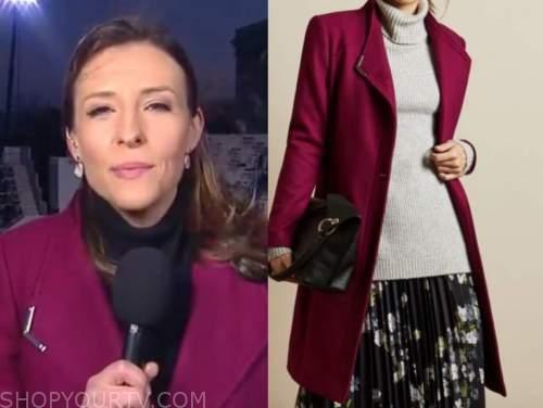 mary bruce, good morning america, hot pink coat
