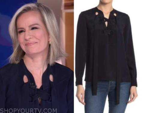 dr. jennifer ashton, good morning america, gma3, lace-up blouse